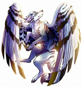 Anime Ice Wolf With Wings | www.pixshark.com - Images ...