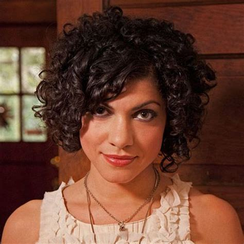short curly casual hairstyles with bangs for thick hair