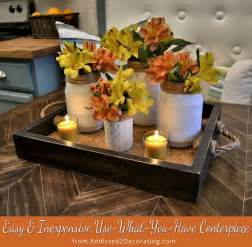 easy inexpensive use what you have centerpiece