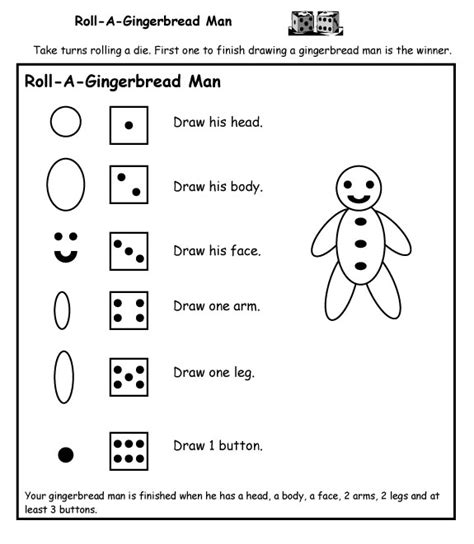 roll a gingerbread printable a to z