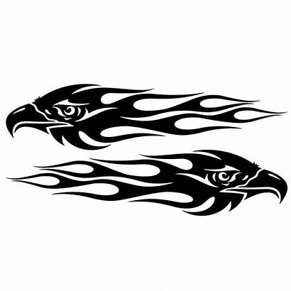 Eagle Stickers Motorcycle Flames Sticker 7cm Styling