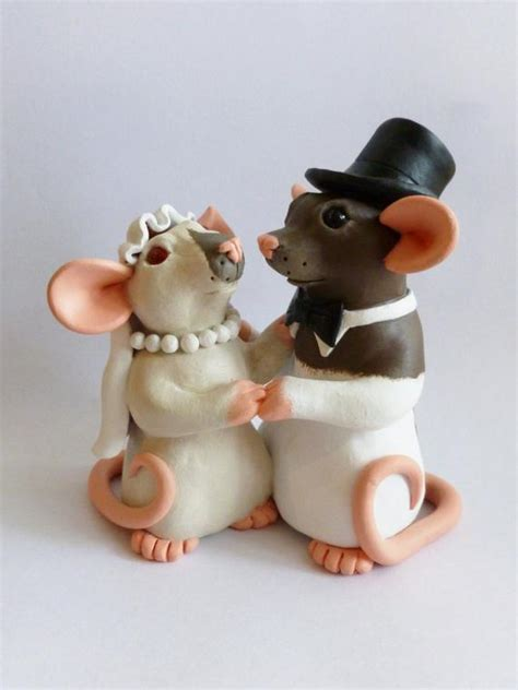 custom rat wedding cake topper fancy rat wedding decoration