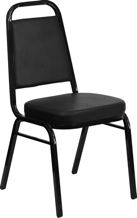 flash furniture hercules series trapezoidal back stacking banquet chair with black vinyl and 2 5