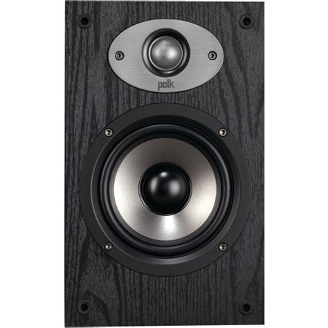 polk audio bookshelf speakers polk audio 5 1 4 in bookshelf speaker black am6115 a
