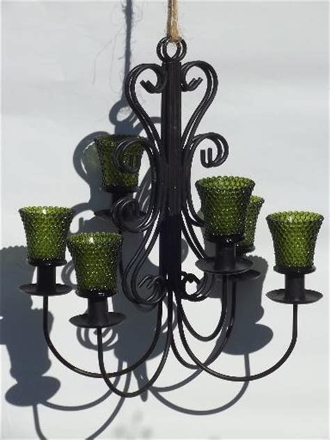 vintage wrought iron wall sconces hanging chandelier