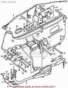 Honda Atc90 1976 Usa Frame    Muffler