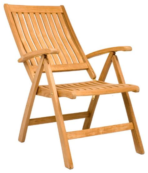 marley reclining folding chair outdoor teak