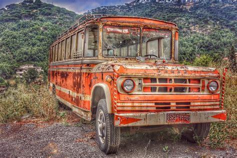 car bus schoolbus vintage vintagestyle mylebanon