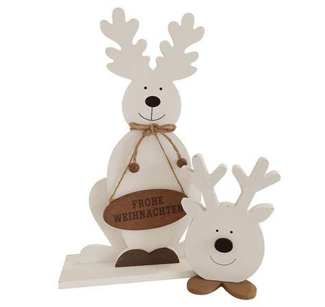 Rentier Deko Weihnachten deko rentier set hirsch elch weihnachten holz wei 223 30cm