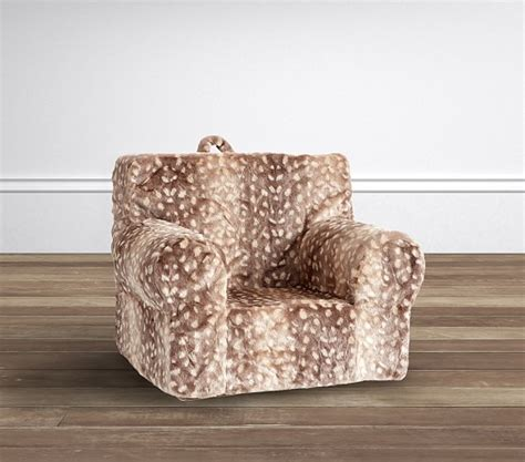fawn faux fur my anywhere chair slipcover only