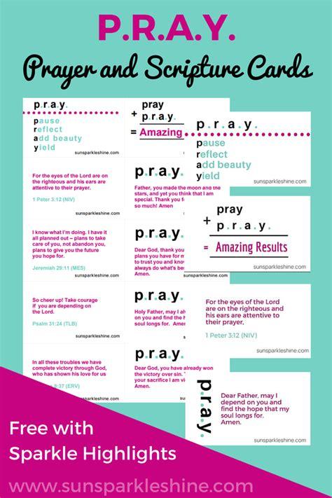 pray prayer  scripture cards sunsparkleshine