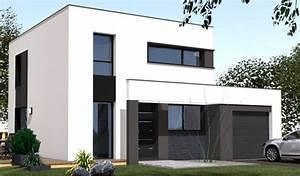 Plan Maison Contemporaine Toit Plat : maison etage toit plat ~ Nature-et-papiers.com Idées de Décoration