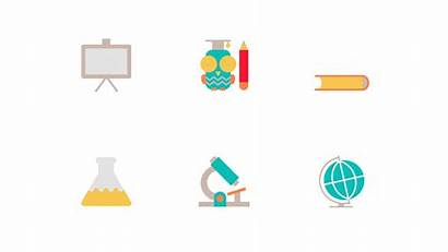 Education Animated Icon Pack Gifs Powerpoint Flat