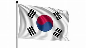 Flag Of South Korea Animation Loop Stock Footage Video ...