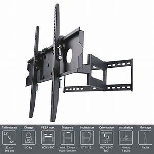 Support Mural Tv Orientable : inotek pro m1 3265 support tv mural 32 65 fixation ~ Melissatoandfro.com Idées de Décoration