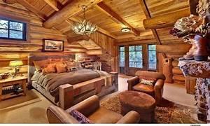 Rustic, Cabin, Accessories, Rustic, Cabin, Bedroom, Decorating, Ideas, Amazing, Log, Cabin, Homes