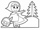 Hood Riding Coloring Pages Clipart Drawing Clip Sheets Wolf Chaperon Rouge Printable Sheet Babies Coloringhome Kid Earhart Amelia Printables Getdrawings sketch template