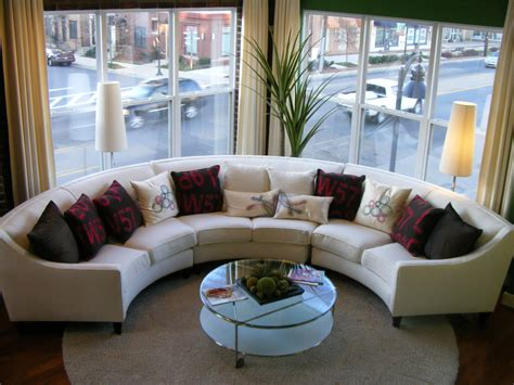 Furniture Marvelous Oval Sectional Sofas Give A