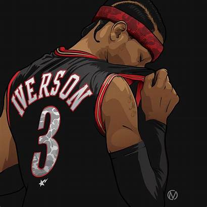 Allen Iverson Basketball Bape Illustration Nba Dope