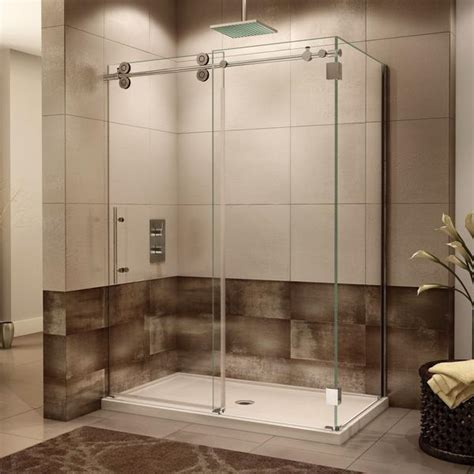fleurco kinetik  sided kt shower door closes