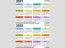 20212022 Calendar free printable twoyear PDF calendars