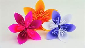 Einfache Papierblume Basteln : blume falten origami diy sch ne blumen f r den fr hling ostern anleitung deutsch youtube ~ Eleganceandgraceweddings.com Haus und Dekorationen