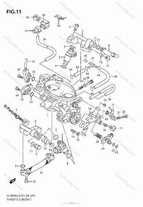 Suzuki Motorcycle 2007 Oem Parts Diagram For Throttle Body