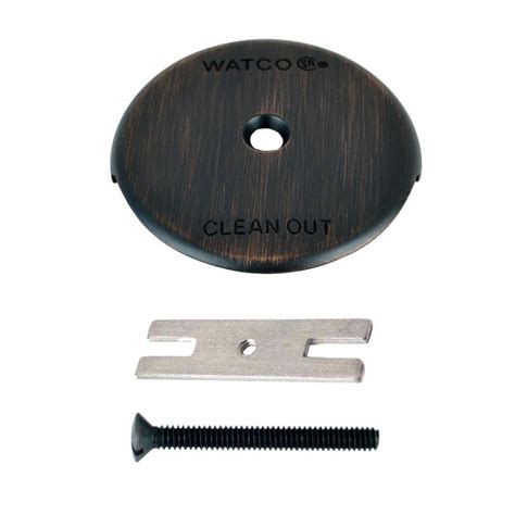 danco single overflow plate in rubbed bronze 9d00089473 the home depot