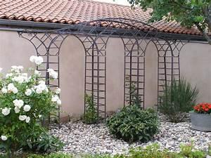 Arche Metal Pour Plante Grimpante : ferronnerie d 39 art rocle pergola gloriette marquise ~ Premium-room.com Idées de Décoration