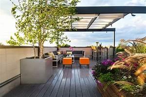 Amenagement Terrasse De Toit : terrasse sur toit id es et conseils comment l 39 am nager ~ Premium-room.com Idées de Décoration