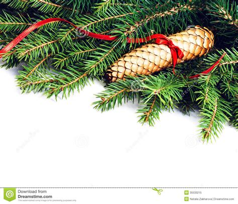 frame with fir tree branch and decoration is stock image image 35533215