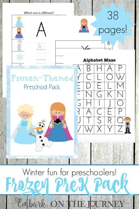 Free Frozen Printables For Preschoolers (38 Pages!)  Free Homeschool Deals