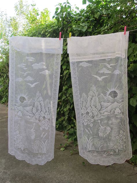 lace panels door curtains white lace by hatchedinfrance