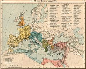 Ancient Map Of The Western Roman Empire