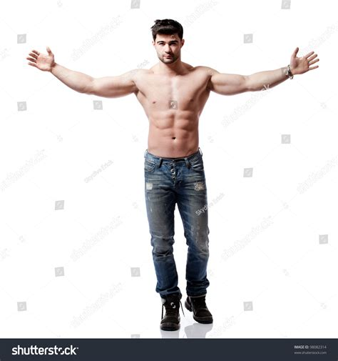 Full Body Shot Handsome Young Man Stock Photo 98082314
