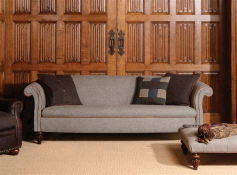 Harris Tweed Settee by Bowmore Edwardian Style Tetrad Harris Tweed Handmade