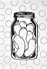 Coloring Pickle Printable Pickles Printables Silly Source sketch template