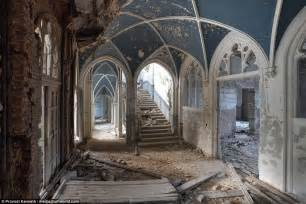 haunting pictures  crumbling belgian chateau