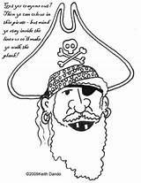 Eye Patch Pirate Template Colouring Coloring Pages sketch template