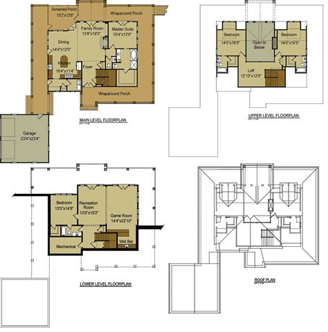 cabin house plans with loft lake house plans with loft cottage house plans