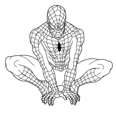 colouring in templates spiderman free printable spiderman coloring pages for kids