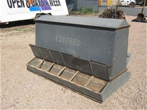 pig feeder ezyfeed galvanised located alford sa auction 0004 8000137 graysonline