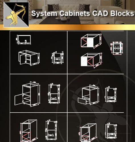 Cabinet Autocad Blocks by System Cabinets Cad Blocks V2 Bookcases Cabinets Desks