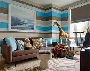 Kinderzimmer Blau Grau : kinderzimmer farblich gestalten 70 wohnideen mit der farbe braun ~ Markanthonyermac.com Haus und Dekorationen