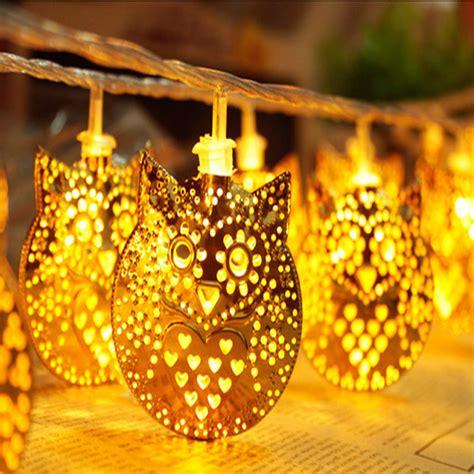 owl christmas lights 2m owl animal led string lights battery operated 20 golden owl lights wedding