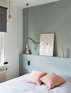 Mur Blanc Et Gris : d co salon comment d corer sa chambre mur couleur vert gris linge de lit blanc et coussi ~ Preciouscoupons.com Idées de Décoration