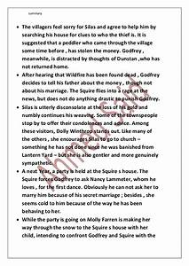 Great Gatsby Essay Thesis Silas Marner Essay Questions And Ask Tom Brennan Essay What Is The Thesis Of A Research Essay also Comparative Essay Thesis Statement Silas Marner Essay Questions Best Assignment Help Website Silas  Science Essay Ideas