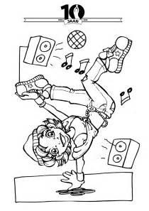 Streetdance Kleurplaat by Jubileumactie Knutsel Creatiefwedstrijd Dansstudio