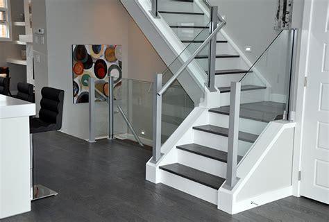 modern staircase railing designs stairs railings deckview glass railing calgary