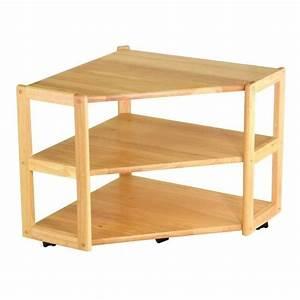 Solid Wood Corner TV Stand in Beech - 83423